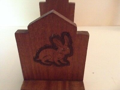 Vintage Child's Book Rack or Shelf/Table Top, Bunny and Kitten