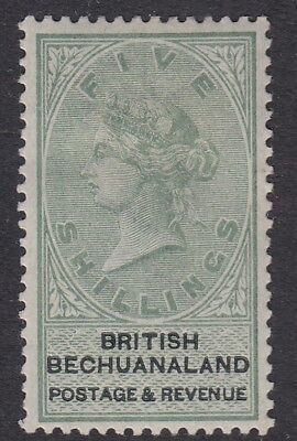BECHUANALAND-1888 5/- Green & Black.  A  mounted mint example Sg 18