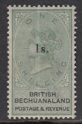 Bechuanaland 1888 green/black 1/- on 1/- mounted mint  SG28