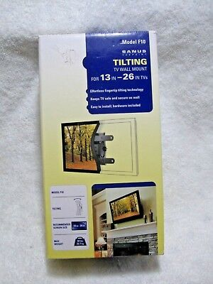 New SANUS VUEPOINT F10 Tilting Flatscreen TV Wall Mount 13 to 26 inch TV's-Home