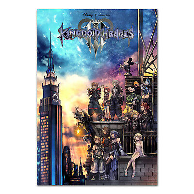 Kingdom Hearts III 3 Poster - PS4 Box Art Exclusive - High Quality Prints