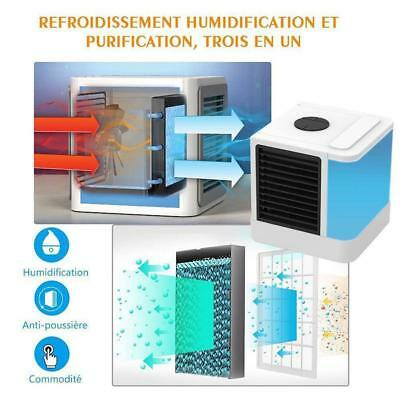 USB Portable Evaporative Air Cooler Fan Purifier Humidifier Conditioner Cooling