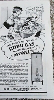 1940 Ruud Gas Water Heater ad