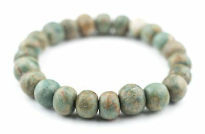 Natural Mayan Jade Beads 11mm Green Round Gemstone Large Hole 8 Inch Strand