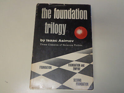 The Foundation Trilogy by Isaac Asimov 1951 HBDJ BCE Book Club Edition