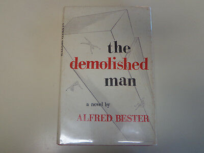 The Demolished Man by Alfred Bester HBDJ 1953 Book Club Edition BCE Shasta