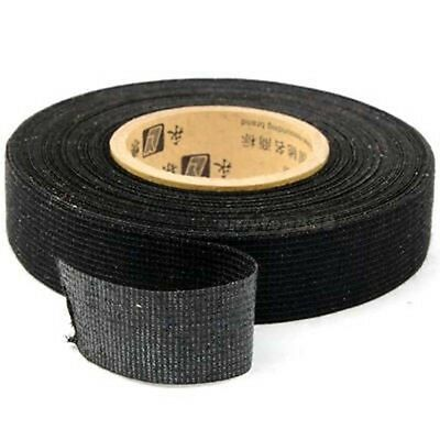 Roll Black Automotive Wire Loom Adhesive Cloth Fabric Tape Electrical Protector