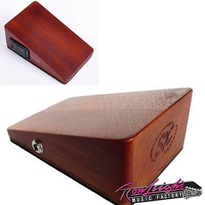 Essex SBX11 Mahogany Wooden Stomp Box - Wedge Shaped with Active Pickup w/ Bag
