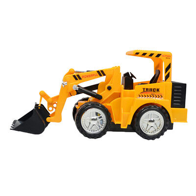 RC Bulldozer Rechargeable 5CH Remote Control Engineering Truck Kids Toy Gift