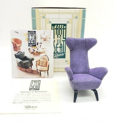 Willitts Designs Take Seat Slope Wingback Miniature Collectible Dollhouse Chair