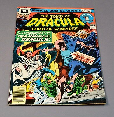 """The Tomb of Dracula # 46 marvel comic graded 7.0 FN/VF """"30 cent variant""""!"""