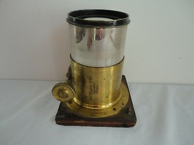 Large Antique Brass A.T. THOMPSON & CO. IMPORTERS - BOSTON Photo Camera Lens