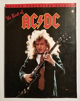 AC/DC : The Best of AC/DC Guitar Tab Tablature Edition Music Book ACDC