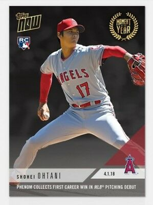 2018 Topps Now Moment of the Year #3 GOLD WINNER #MOY3 SHOHEI OHTANI RC Rookie