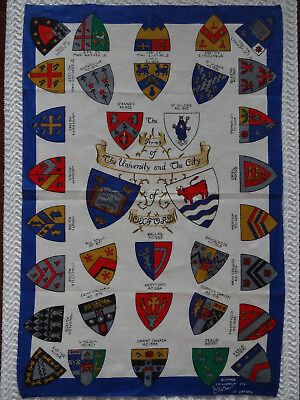 """Ellistons """"The Arms of the University and the City of Oxford"""" Linen Tea Towel"""