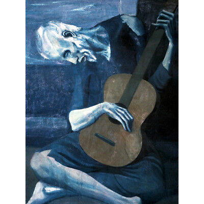 The Old Guitarist Pablo Picasso HD Canvas Art Print Oil Painting Decor #M154