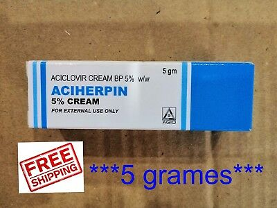Like Zovirax/HASCOVIR Cold sore cream 5g tube with 5%  aciclovir / Acyclovir