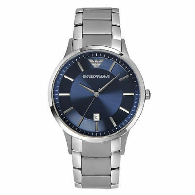 f97145f287b New Emporio Armani Ar5860 Stainless Steel Blue Dial Chronograph Mens Watch