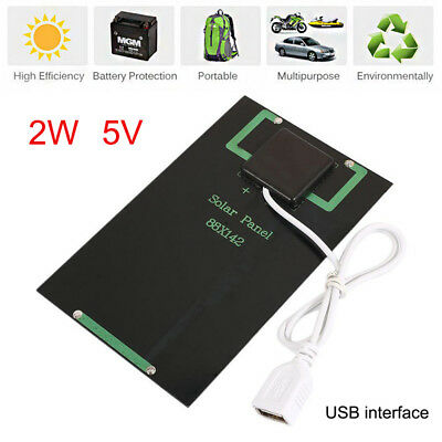 Mini Fast Charger USB Solar Panel 2W 5V Solar Charger Panel Portable Outdoor