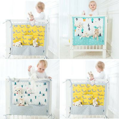 Baby Bed Hanging Storage Organizer Bag Cot Crib Nursery For Toy Diaper Clothes