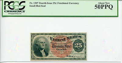 25 Cent Fourth Issue Fractional Currency FR#1307 PCGS About New 50PPQ