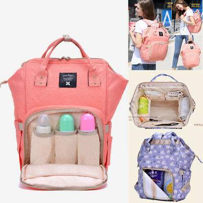 Waterproof Mummy Bag Backpack Baby Diaper Nappy Bottle Holder Large Changing Bag