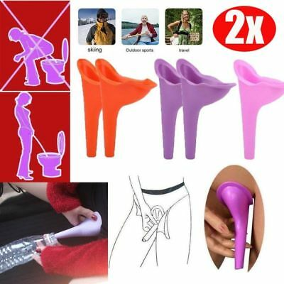 Portable Urinal Funnel Female Rubber Flexible Wee She Relieve Urinating Cup 2Pcs