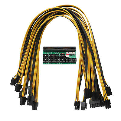 Breakout Board + 10pcs Cable for HP 1200w/750w Power Module Mining Ethereum 8pin