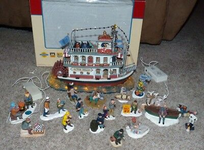 Lemax River Belle Riverboat Nautical Figures Lot Village Collection