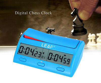 LEAP Professional Digital Portable Chess Clock Count Down Gaming Timer Portable