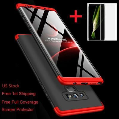 For Samsung Galaxy Note 9/8/S9/S8/Plus/Shockproof 360° Case+Screen Protector