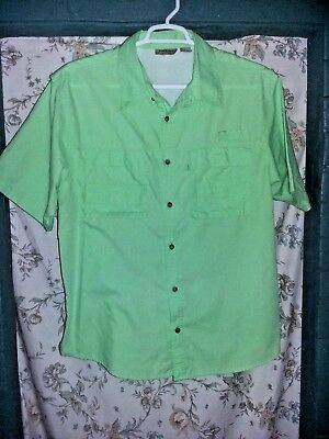 Rugged Earth Outers Mens Large Vented Shirt Work Fishing Outdoor Lifestyle