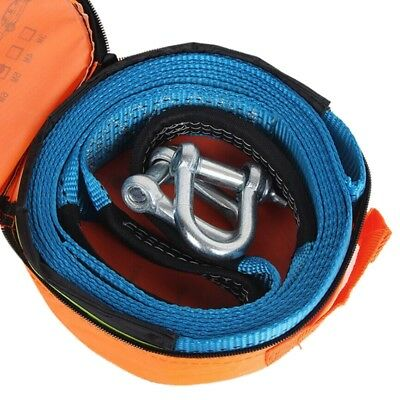 5M 8 Tons Towing Rope Strape Cable With U Hooks Shackle High Strength Nylon Z9J8