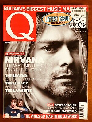 Q Magazine Oct 2002 Nirvana: The Most Important Band In The World! Near Mint!