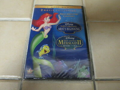 NEW DVD Disney The Little Mermaid II III 2 3 Ariel's Beginning Return to Sea OOP