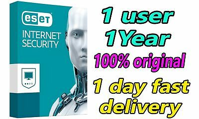 ESET Internet Security 2019 - 01 PC/1 Year ( 365 days ) / 1 PC 01 Full Year
