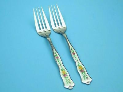 Royal Albert OLD COUNTRY ROSES Monogram Stainless 2 Dinner Forks