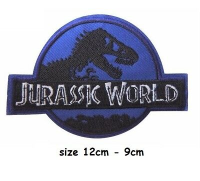 Jurassic world disastrous movie  skull embroidered iron sew on patch large.