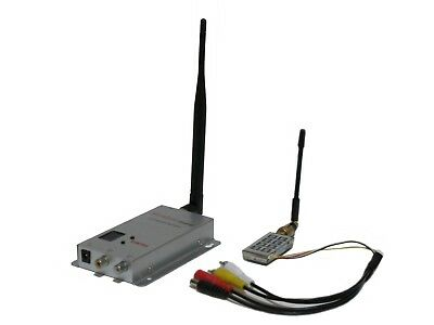 1.2Ghz 1000mW 8-Channel AUDIO VIDEO Tranmsitter + Receiver Wireless Kit for FPV