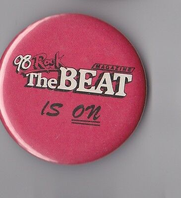 Vintage Hawaii Radio 98 Rock The Beat Is On Pinback Button