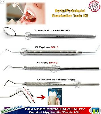 Dental Periodontal Examination Tools Kit DG-16 Perio Probes Marking Williams CE