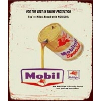 Classic Sign Mobiloil Special Tin Sign 50cm x 35cm FREE POST