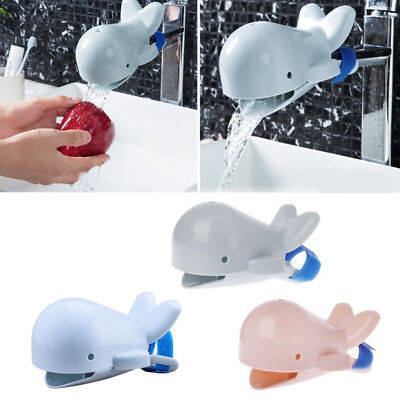 Animals Faucet Extender Kids Happy Fun Tubs Baby Safe Hand Washing Bathroom Sink