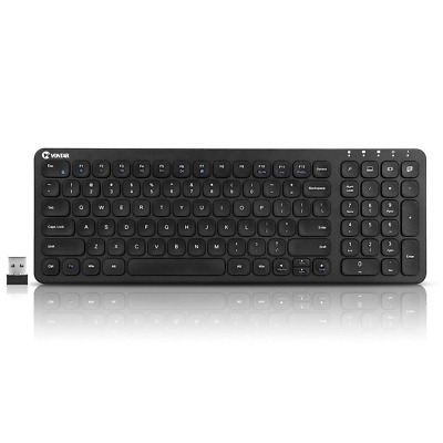 Wireless Keyboard Mouse 2.4GHz Ultra Slim Bluetooth Rechargeable with Number Pad