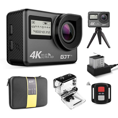 4K Touchscreen Action Camera WiFi Dual Screen 12MP Ultra HD Waterproof Camcorder