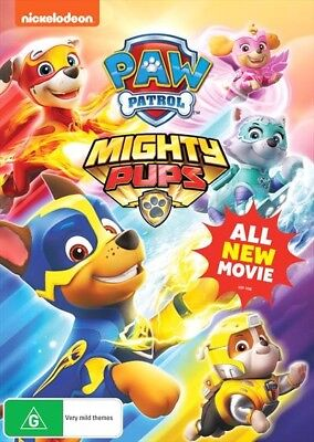Paw Patrol - Mighty Pups Bonus Led Wrist Band (Dvd, 2018) 🍿 [Brand New]
