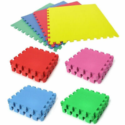 18Pcs Extra Thick Gym Flooring Interlocking Floor Mats EVA Soft Foam Mat Tiles