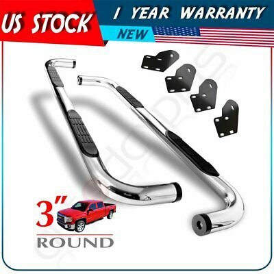 """1999-2016 Ford F250/F350 Super Duty Super Cab 3"""" Side Steps Stainless Nerf Bars"""