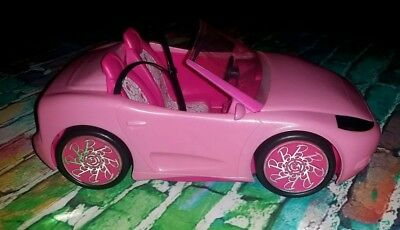 Barbie Doll Pink Sparkle Convertible Beach Cruiser Sports Car 2010 Mattel