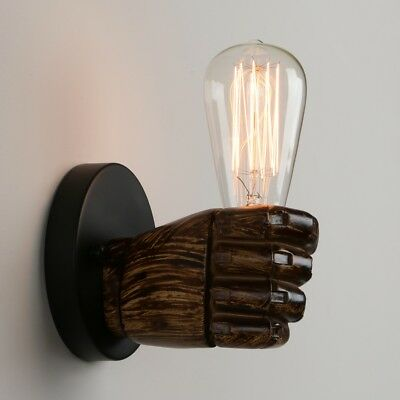 Vintage Retro Fist Resin Wall Light E27 Sconce Lamp Aisle Porch Lighting Fixture